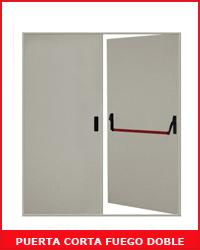 Puerta cortafuego doble